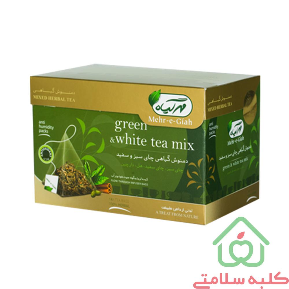 دمنوش کیسه ای چای سبز و سفید